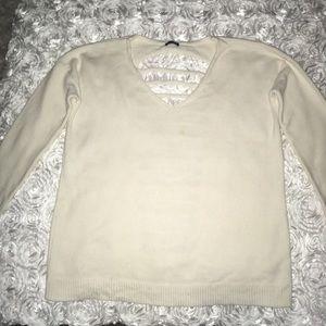 Express Sweater w/open back